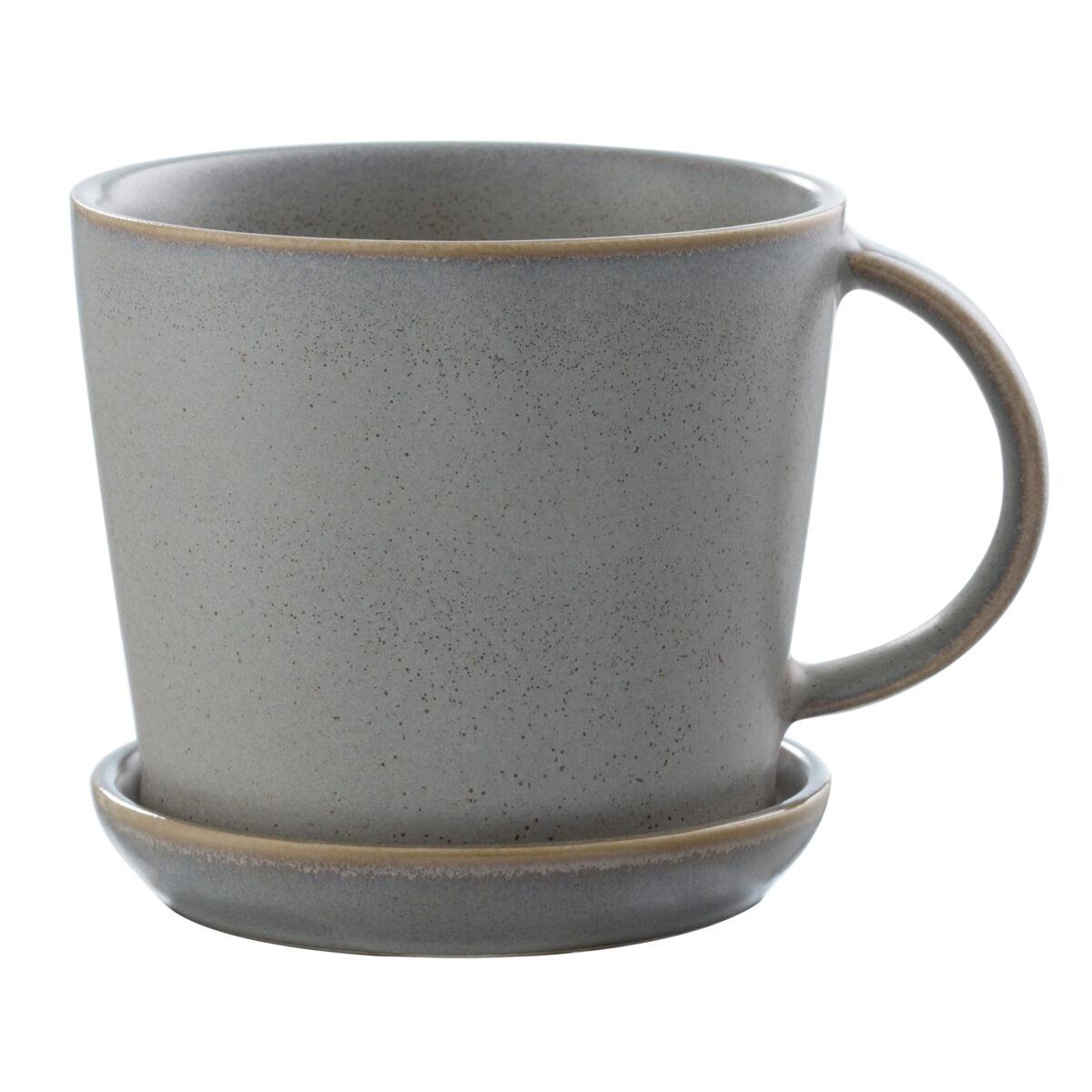 Kopp med fat grå