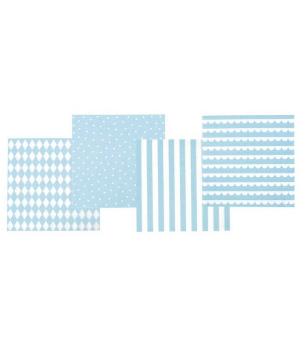 servetter blå